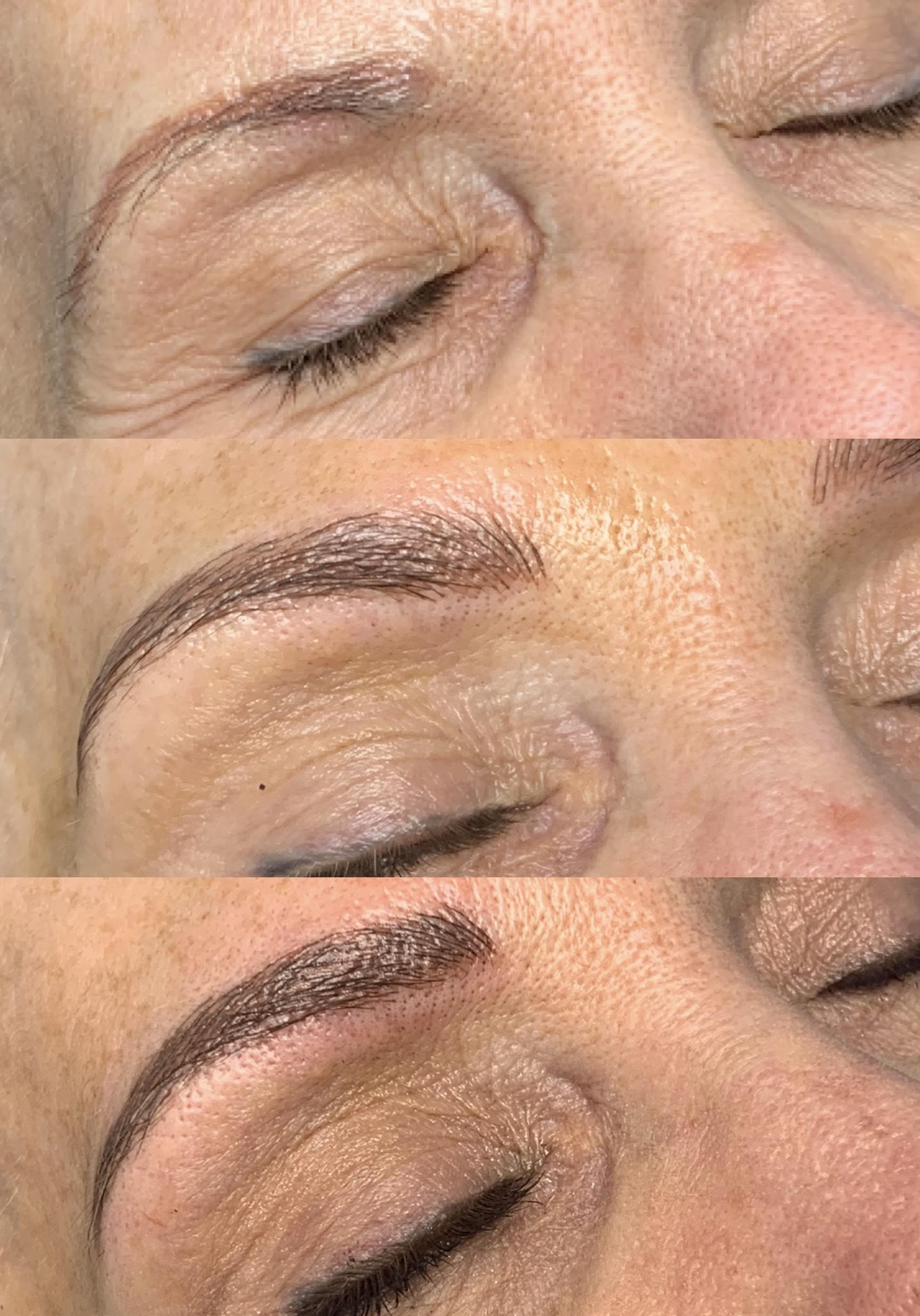 Before and after photos for microblading