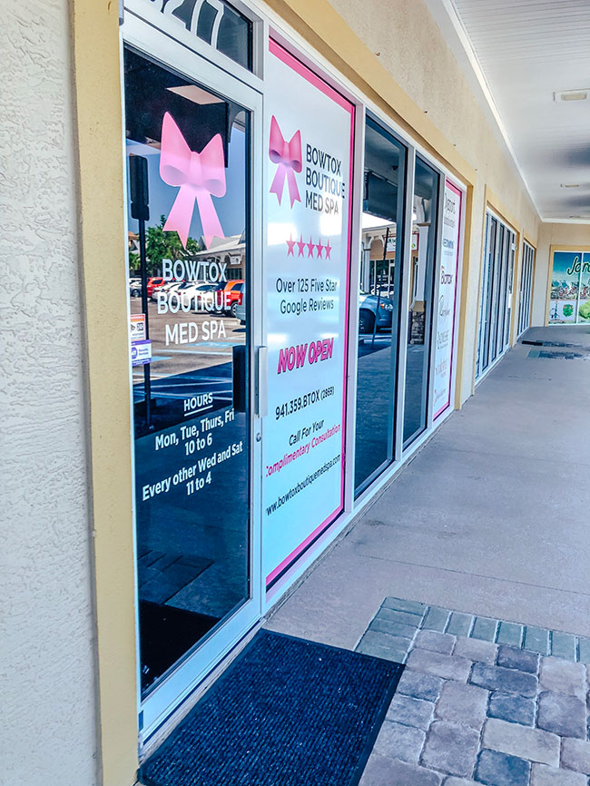 Bowtox Boutique Lakewood Ranch storefront